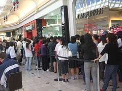 Are people queing to see your products? (photo courtesy of avlxyz)